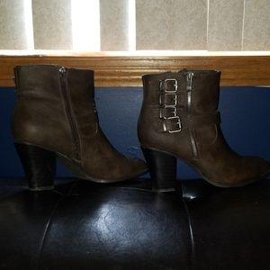 JustFab brown booties